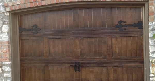 Metal Garage Doors Painted To Look Like Wood With Fluer De
