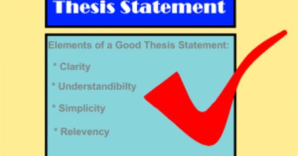 esl thesis statement