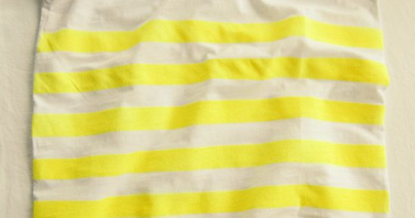 DIY neon yellow striped t-shirt