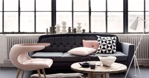 Bright.Bazaar - Black, grey & tea rose pink colour scheme