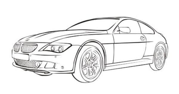 Jeep Grand Cherokee Srt10 >> BMW M6 - Cars coloring pages | Cars coloring pages | Pinterest | Bmw m6 and Craft