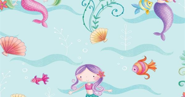 Find Fine Decor Mermaid Wallpaper At Homebase Visit Your Local Store For The Widest Range Of Paint Decorating Produc Mermaid Wallpapers Mermaid Mermaid Room