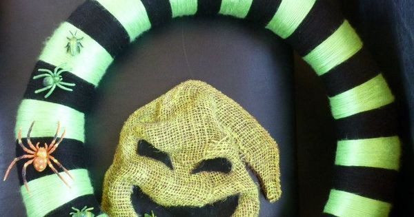 Oogie Boogie Burlap With Bugs Wreath From The Nightmare