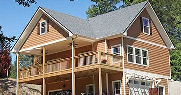 Plan 24114BG: Vacation Cottage With Drive Under Garage