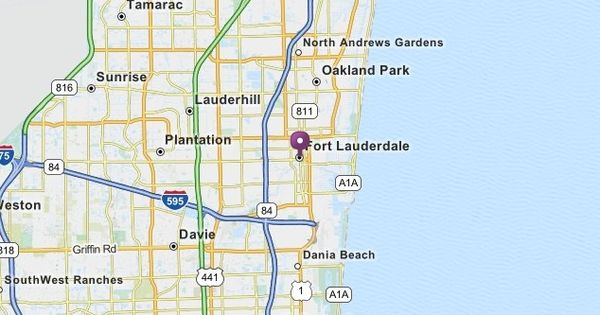 Fort Lauderdale, FL Map | MapQuest | How I Grew Up ...