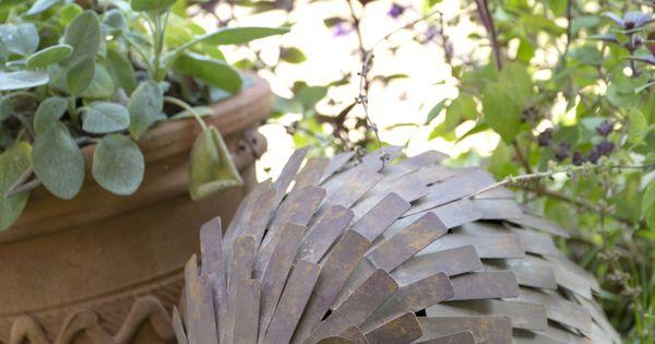 H risson en m tal sujet de d coration pour le jardin for Sujet decoratif pour jardin