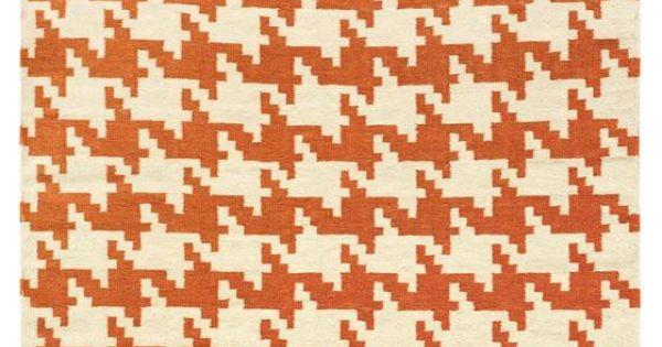 Houndstooth Area Rug 5x8 159 Black Tan Yellow Orange