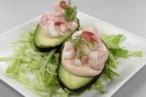 Avocadoer Med Rejer Opskrift Kaviar Avocado Med Rejer Rejer