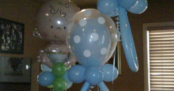 baby shower decorations for boy balloon sculpture | IT'S A BOY (BABY
