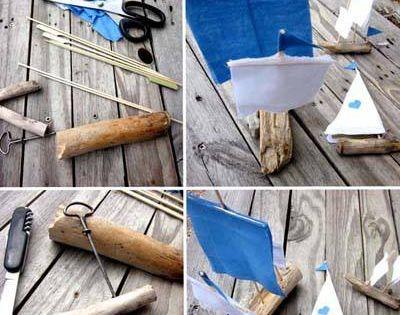 Petits bateaux en bois flott for Bateau bois flotte