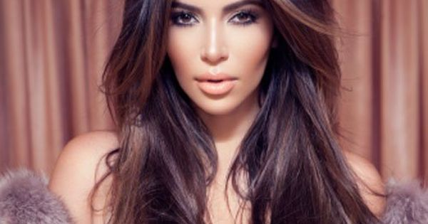 Hair color, length and her fur coat with fab makeup! Kim Kardashian