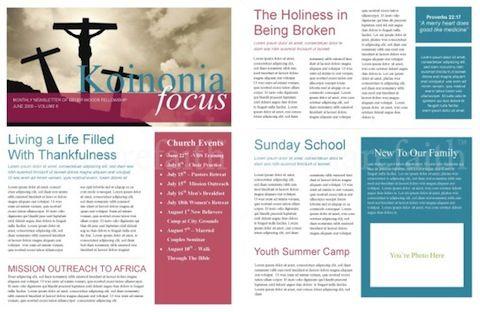 The Power Of A Printable Newsletter Template Sharefaith Magazine Church Newsletter Newsletter Templates Newsletter Template Free