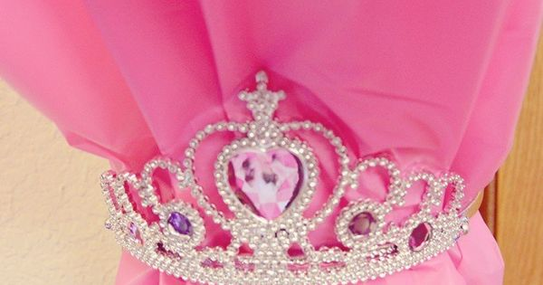 Disney Princess Party - use plastic tableclothes tied back with tiaras for