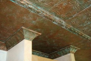Faux Copper Sheets Copper Patina Tin Ceiling Copper Ceiling Tiles Tin Ceiling Tiles