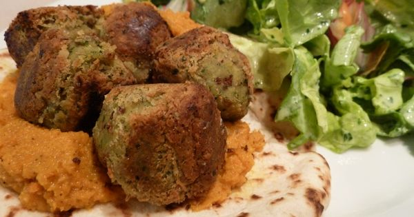Falafel with Roasted Carrot Dip   Eat   Pinterest   Roasted Carrots ...