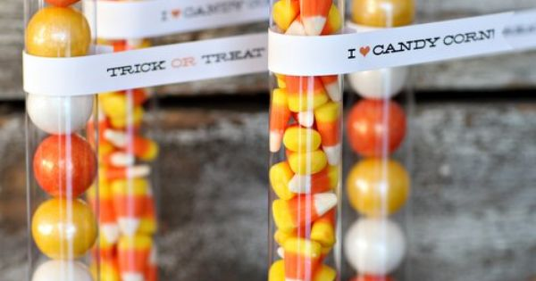 Festive fall colored gumballs in plastic tubes. Makes a great birthday party