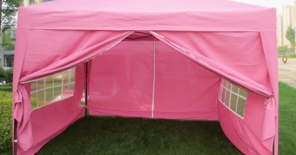 Ez Pop Up Wedding Party Tent Folding Gazebo Camping Canopy W Sides Carry Bag Ebay 10 X 20 Canopies For Sale Camping Canopy Glamping Party