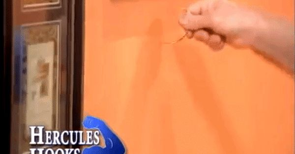 Hercules Hook Wall Hanger Installs Sturdy Curved Nails Into Walls