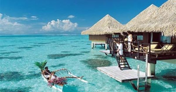 Water Bungalow in Tahiti...I'm going there one day ;) BoraBora
