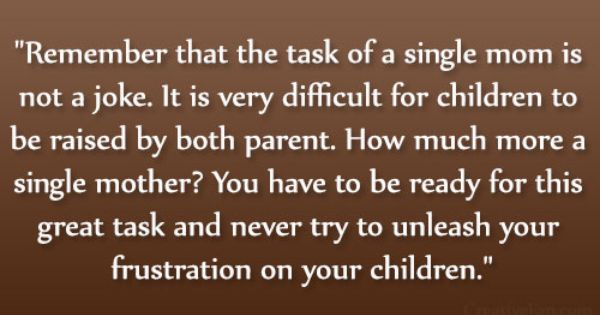 the effects of a child being raised by a single parent At the same time, however, the problems often associated with children who grow up in one-parent families--poverty, failure in school, and juvenile delinquency-- cannot be attributed to single parenthood alone according to mclanahan and sandefur, being raised by only one's mother or father is but one of several things.