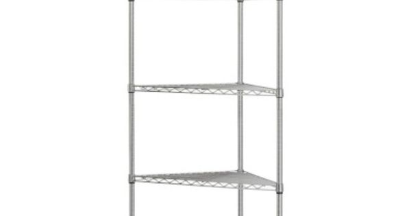 wire 5 shelf corner unit white corner unit shelves and. Black Bedroom Furniture Sets. Home Design Ideas