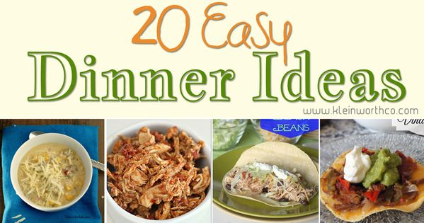 20 Easy Dinner Ideas Page 2 Of 2 Quick Dinner Recipes Cheap Dinner Ideas