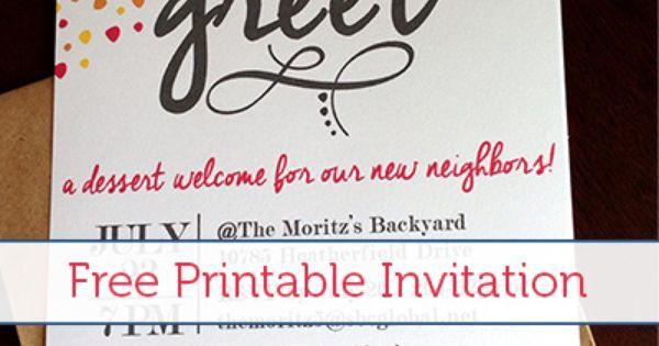 Meet & Greet Free Printable Invitation   Much!, Printable ...