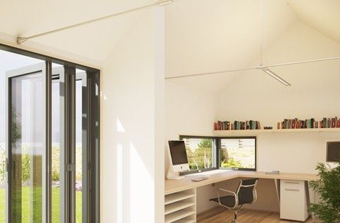 Folding Glass Doors Pod Space Tiny Home Office 002 Tiny