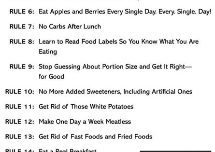 Bob Harpers Skinny Rules, I wish this would say Healthy Rules because