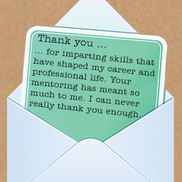 Thank You Mentor Thank You Note Wording Thank You Quotes