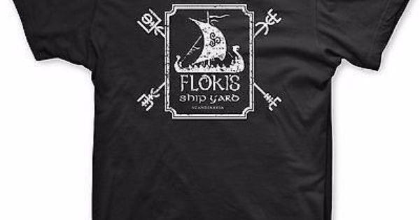 Vikings >> Floki Ship Yard t shirt scandanavia shirt Vikings tee ...