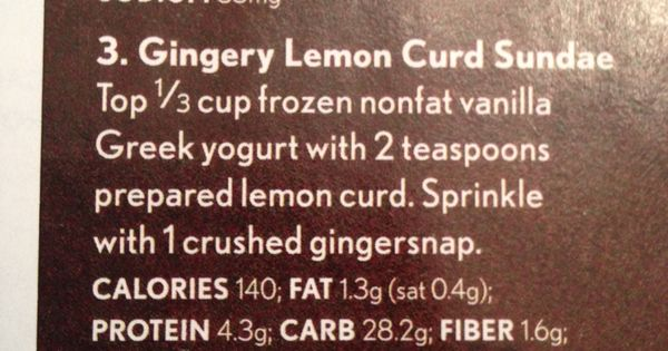 Gingery lemon curd sundae   Sweets & Treats   Pinterest   Lemon