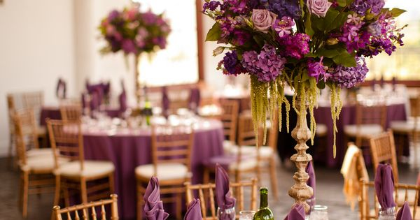 Purple Wedding Decor 275x412 Leesburg Virginia Wedding Reception ...