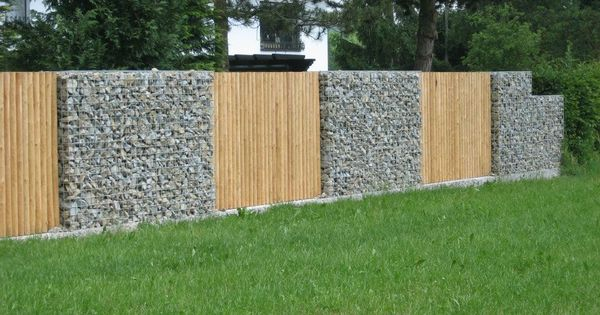 gabion fence cloture pinterest pelouses palettes en. Black Bedroom Furniture Sets. Home Design Ideas