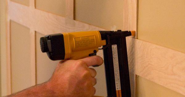 Securing Board and Batten; bathroom remodel
