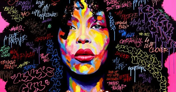 Ladies and Gentlemen, Ms. Erykah Badu! Artist: NOE TWO - Graffiti artist