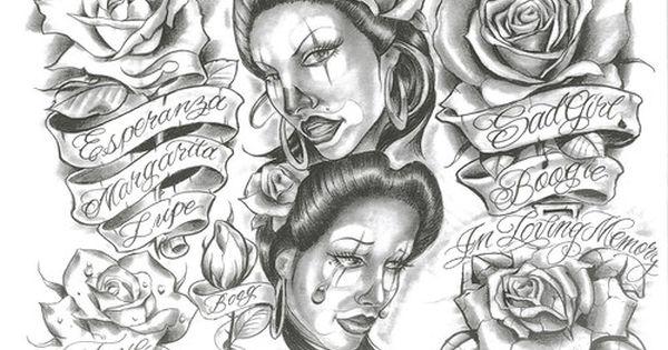 Lowrider Tattoo Stencils: Boog Tattoo Flash Black And Grey Cd Inks ...