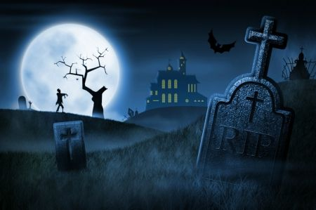 Spooky Cemetery 3d And Cg Wallpaper Id 1861905 Desktop