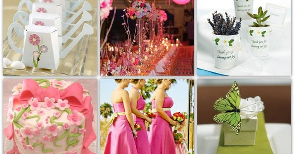 Springtime Wedding Theme Elements Pink And Earthly Green With A Touch Of Yellow Magenta Nice Weddings Pinterest Ideer Bryllup Og