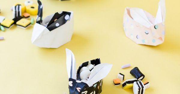 DIY Origami Bunnies + Printable