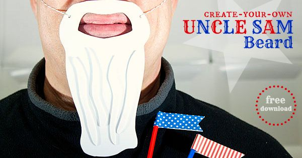 Piggy bank parties create your own uncle sam beard for Create your own piggy bank