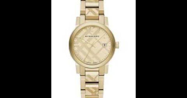ساعات بربري نسائي Gold Watch Wood Watch Gold