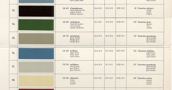190sl mb ponton paint codes mercedes 190sl db 158 for Mercedes benz paint color codes