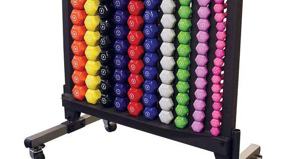 Body Solid Vinyl Dumbbells With Rack Set Dumbbell Rack Weight Rack Dumbbell