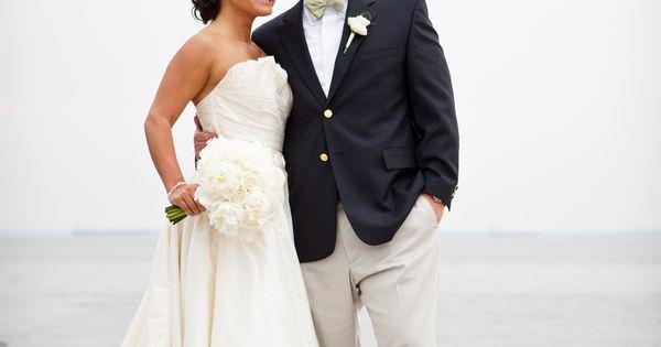 nautical wedding. Love the dress