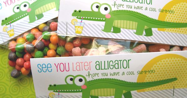 Free Printables - End of school treat bag toppers