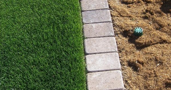 Paver Mow Strip For Garden Edging So Tired Of Having To