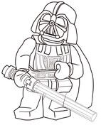 Anakin Skywalker With Two Lightsabers Coloring Page Free
