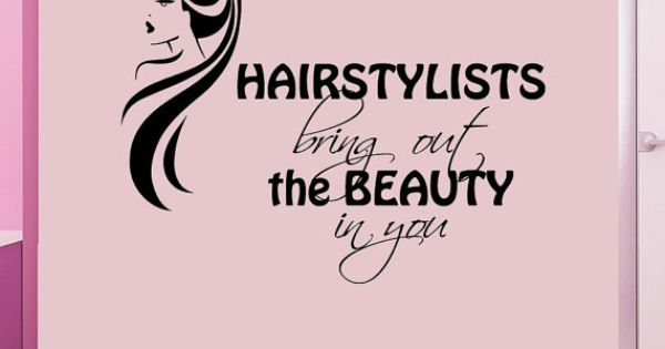 Wall decals quote hairstylists bring out the by for A shear thing salon