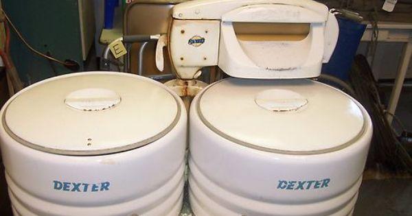 Dexter Double Tub Wringer Washer Vintage Laundry Room Vintage Laundry Old Washing Machine